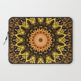Gold Star Bohemian Mandala Design Laptop Sleeve