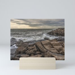 Lanescove sunset after the storm Mini Art Print