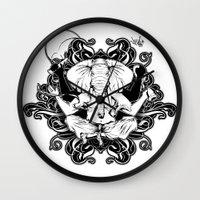 ganesh Wall Clocks featuring GANESH by Vee Ladwa