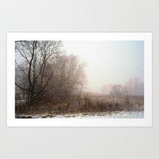 First snow of winter Art Print