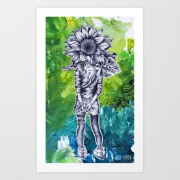 The Wallflower Art Print