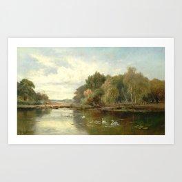 Alfred de Bréanski - The Thames near Cookham (1880s) Art Print