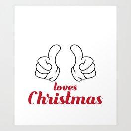 Hilarious & Joyful Xmas Tshirt Design This Grandma loves christmas Art Print