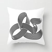 Eye bending Ampersand. Throw Pillow
