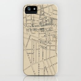 Vintage Map of Saratoga Springs NY (1895) iPhone Case