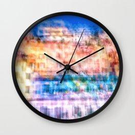 Elephants in a paint store Wall Clock