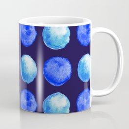 Winter Blue Watercolor Large Dots Pattern Coffee Mug