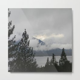 Misting fog over the mountains 1 Metal Print