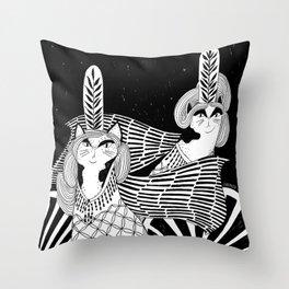 Cat Walk Terrarium Throw Pillow