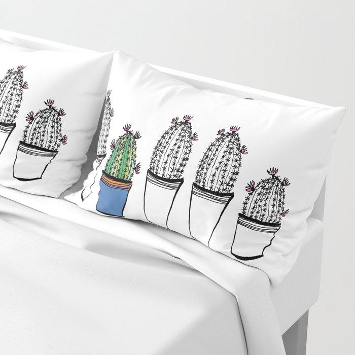 Cactus 63 black & white Pillow Sham