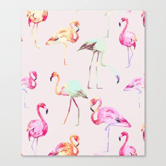 Flamingo Formation #society6 Canvas Print