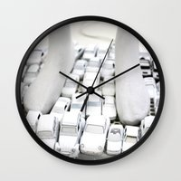 grand theft auto Wall Clocks featuring auto by gaus