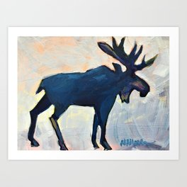 Appreciation - Moose Art Print