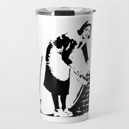 Sweep it Under the Carpet - Banksy Travel Mug
