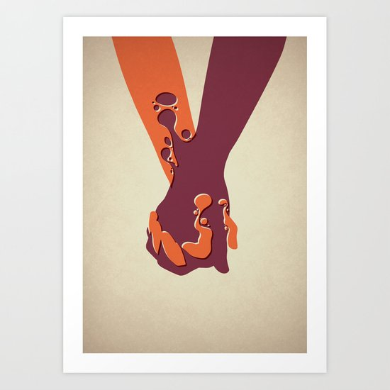 When Two Become One - Hands Art Print