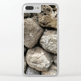 Lava Rock Wall Clear iPhone Case