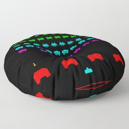 Invaders game Floor Pillow