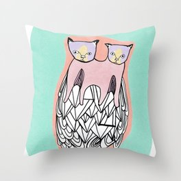 pussy Throw Pillow