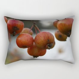 Crab Apples Macro Rectangular Pillow