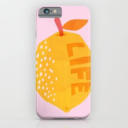 Abstraction_Lemon_Life iPhone Case
