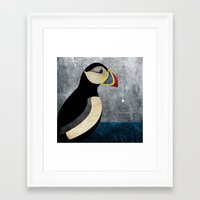 puffin Framed Art Prints featuring puffin by John Beswick