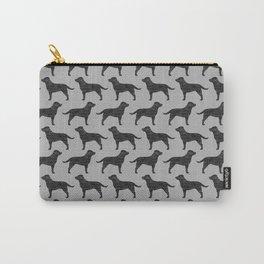 Black Labrador Retriever Dog Silhouette Carry-All Pouch