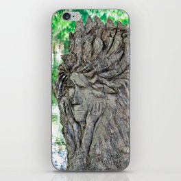 Thinking at the creek iPhone Skin
