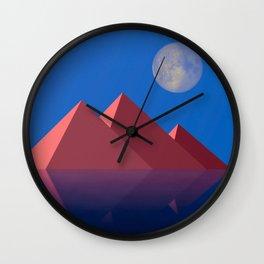 pyramides Wall Clock