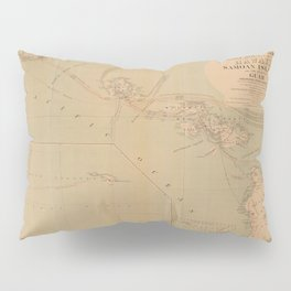 Hawaii Postal Route Map 1908 Pillow Sham