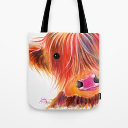 Scottish Highland Cow ' SWEET SATSUMA ' by Shirley MacArthur Tote Bag