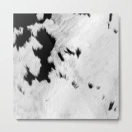 Cowhide Minimalistic Fur Texture Detail Metal Print