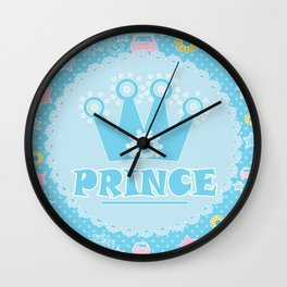 "For the little Prince . From the series ""Gifts for kids"" . Wall Clock"