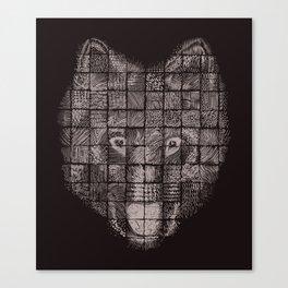 A Patchwork Wolf Canvas Print