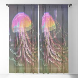 Jellyfish Smell of Summer Sheer Curtain