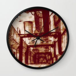 Mr. Incredible Sketches an Alley Wall Clock