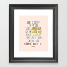 Amy Poehler commencement speech quote Framed Art Print