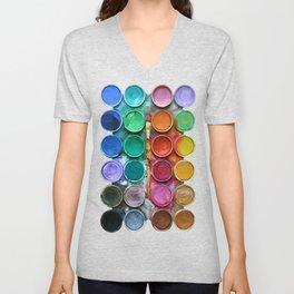 watercolor palette Digital painting Unisex V-Neck