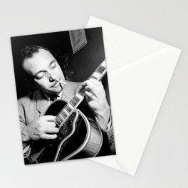Django Reinhardt at the Aquarium Jazz Club Stationery Cards