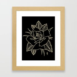 Cream rose Framed Art Print