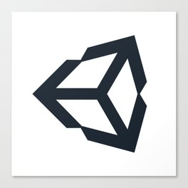 unity 3d engine logo sticker Canvas Print