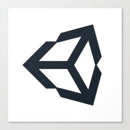 unity 3d engine logo sticker Canvas Print
