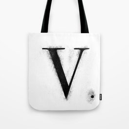 V. - Distressed Initial Tote Bag