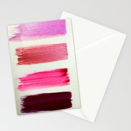 shiny pink  girly swatches Stationery Cards