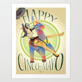 HAPPY CINCO! Art Print