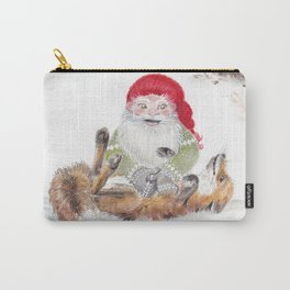 The gnome and his friend the fox - Christmas Carry-All Pouch