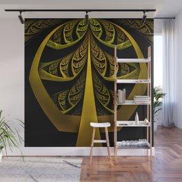 Gold-Leafed Foil Fractal Latticework for LUX VOIR Wall Mural