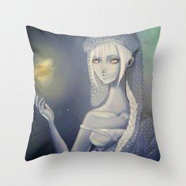 Undersea glow Throw Pillow