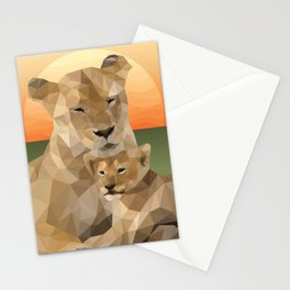 Sunset Lions Stationery Cards