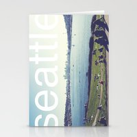 seattle Stationery Cards featuring seattle by Rae Snyder