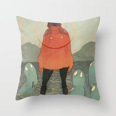 Spirits of the Lake Throw Pillow